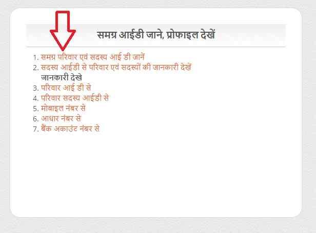 samagra portal id search by name