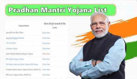 Pradhan Mantri Yojana List 2021