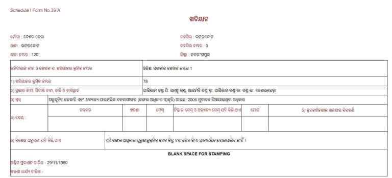 bhulekh odisha plot details