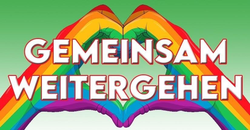 """CSDemo 2020 – Menschenkette um Münsters Promenade unter dem Motto """"Gemeinsam weitergehen"""""""