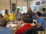 Art teacher Nancy explains the goals for the day.