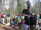 Students had plenty of questions for the loggers.