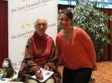 CS4 student Rayna with Jane Goodall