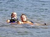 Heidi and Michelle enjoying a post canoe float