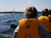 History teacher Michael Salat was sailboarding nearby