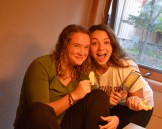 Olivia and Allie mincing ginger