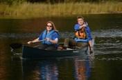 Randa and Logan had great communication while navigating their canoe.