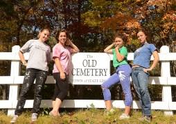 Chloe, Talula, Espior, and Sarah show off their hard work