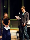 Henry and Katelynn share poems at the open mic