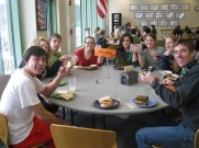 Each Thursday students have lunch with their advisory groups; groups led by staff members who become the student's academic and goals adviser for the semester.