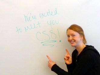 Katie says Welcome!