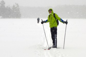 Noah ready to cross a snowy lake