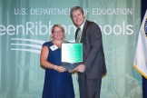 Hurley K-12 Schools with award from Dept of Ed