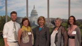 Tomorrow River Charter School group with Senator Tammy Baldwin