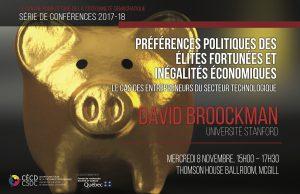 Série de conférence: David Broockman @ Salle de bal, Thomson House | Montreal | Quebec | Canada