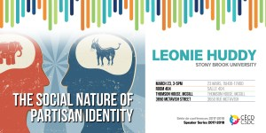 Série de conférences: Leonie Huddy @ Salle 404, Thomson House, Université McGill | Montreal | Quebec | Canada