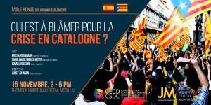 Table ronde: Qui est à blâmer pour la crise en Catalogne? @ Thomson House Ballroom, Université McGill | Montréal | Québec | Canada