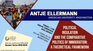 Série de Conférences: Antje Ellermann @ Salle 404 - Thomson House | Montréal | Québec | Canada
