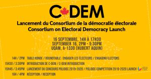 Lancement du Consortium de la démocratie électorale (C-Dem) @ A-1330, Hubert Aquin, UQÀM