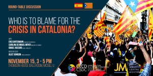 Round-table discussion: Who is to Blame for the Crisis in Catalonia? @ Ballroom, Thomson House, McGill University | Montreal | Quebec | Canada