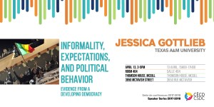 CSDC Speaker Series: Jessica Gottlieb @ Room 404, Thomson House, McGill University | Montreal | Quebec | Canada
