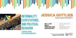 CSDC Speaker Series: Jessica Gottlieb @ Room 404, Thomson House, McGill University | Montreal | Quebec | Canada