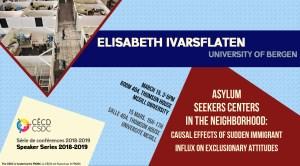 Speaker Series: Elisabeth Ivarsflaten @ Room 404 - Thomson House | Montréal | Québec | Canada