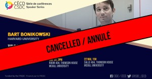CANCELLED - Speaker Series - Bart Bonikowski @ Room 404, Thomson House, McGill