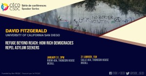 Speaker Series - David Fitzgerald @ Boardroom 404, Thomson House, McGill University