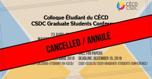 CANCELLED: 2020 Graduate Students Conference @ Maison du développement durable, Montréal