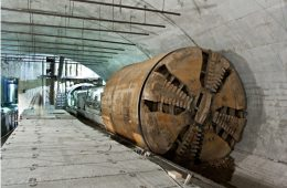 Engineers must consider many factors when selecting the composition of cutting faces on tunnel boring machines.
