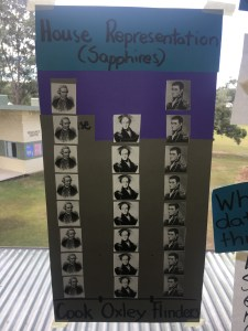 We looked at what houses are represented in our classroom.