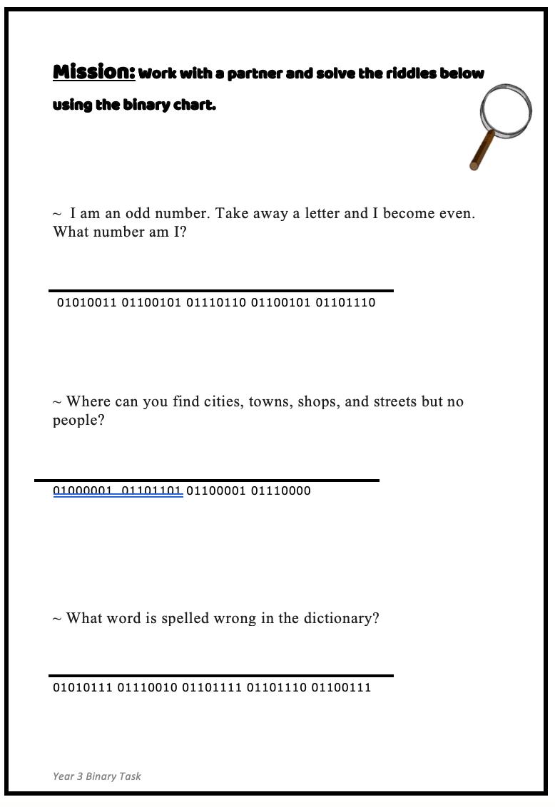 Task 3- Option 3, Binary