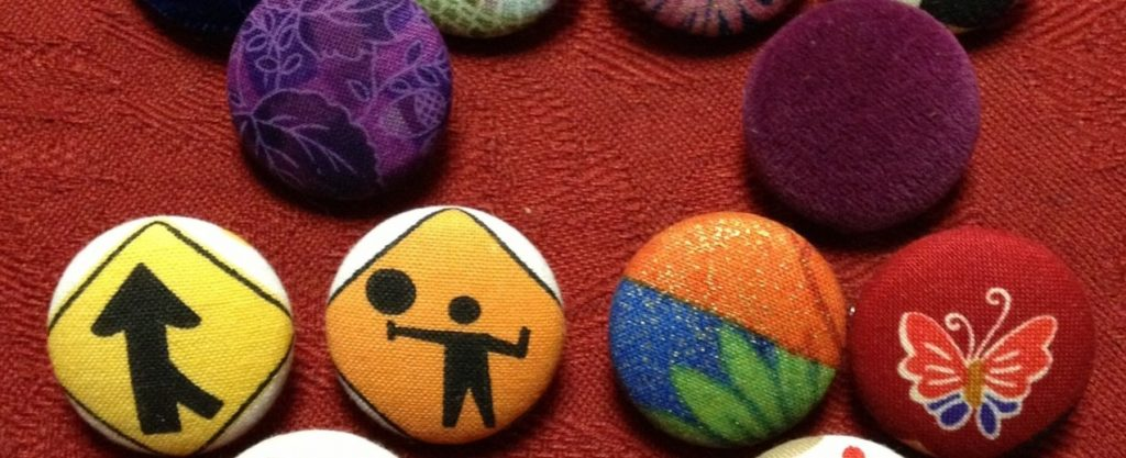 Holiday Gifts – Fabric Covered Button Brooches