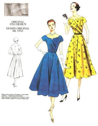 Vogue 1953 Dress Pattern