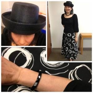 Day 17 - Cotton print bias cut skirt - fabric from Britex Fabrics