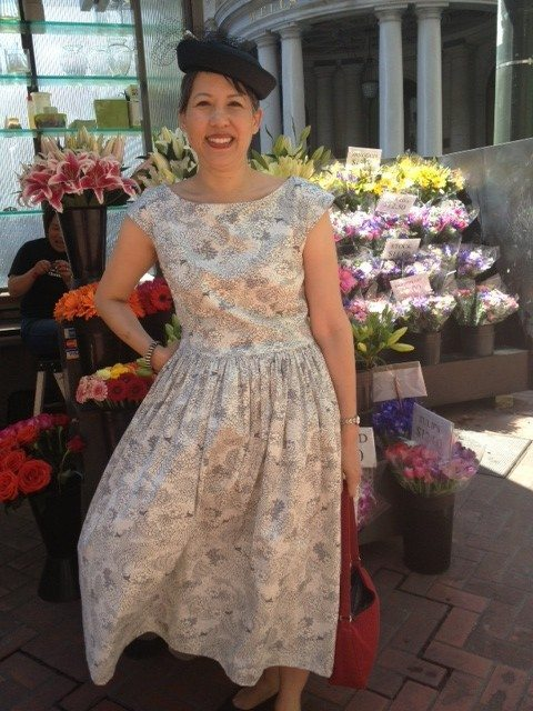 Day 1 - my dress using pattern from BurdaStyle Sewing Vintage Modern book