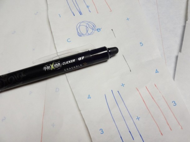 "The ""eraser"" is the tip on the end of the pen."