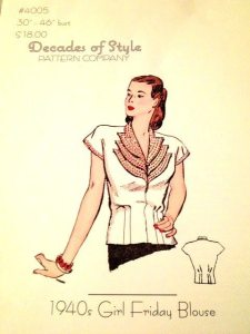 Decades of style 1940s blouse