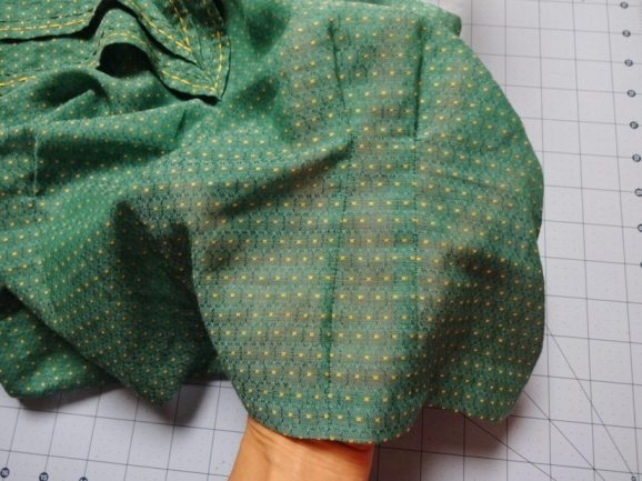 1940s Girl Friday Blouse - vintage swiss dot voile fabric