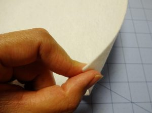 Heavyweight craft interfacing for brim