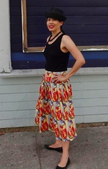 Cotton voile skirt - photo by Kofi - csews.com