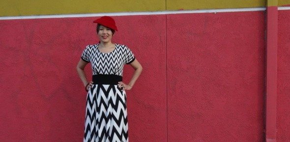 My Chevron Red Velvet Dress
