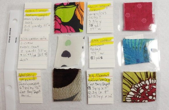 Print fabric swatches