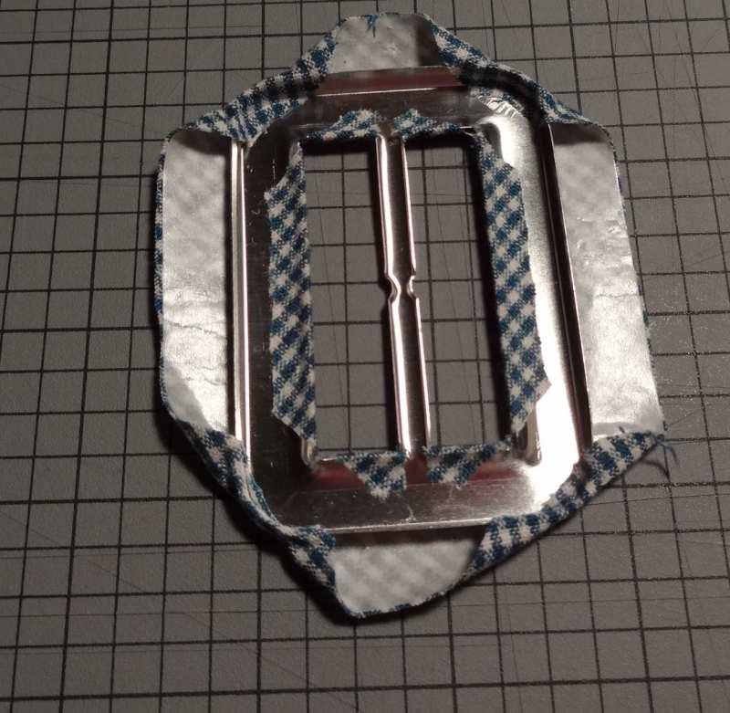 Attaching fabric to belt buckle - csews.com