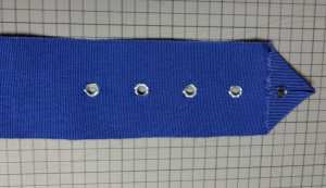 Eyelets in ribbon belt - csews.com