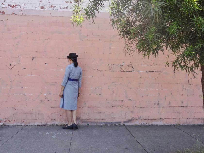 Winifred Dress - Bluegingerdoll Patterns - back view - csews.com