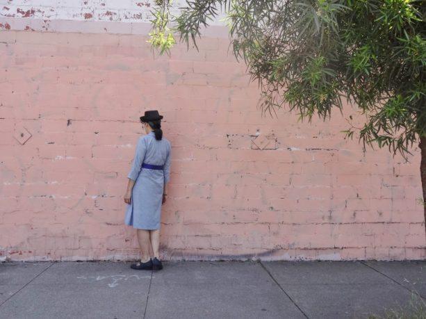 Bluegingerdoll Winifred Dress - back view - indie sewing pattern