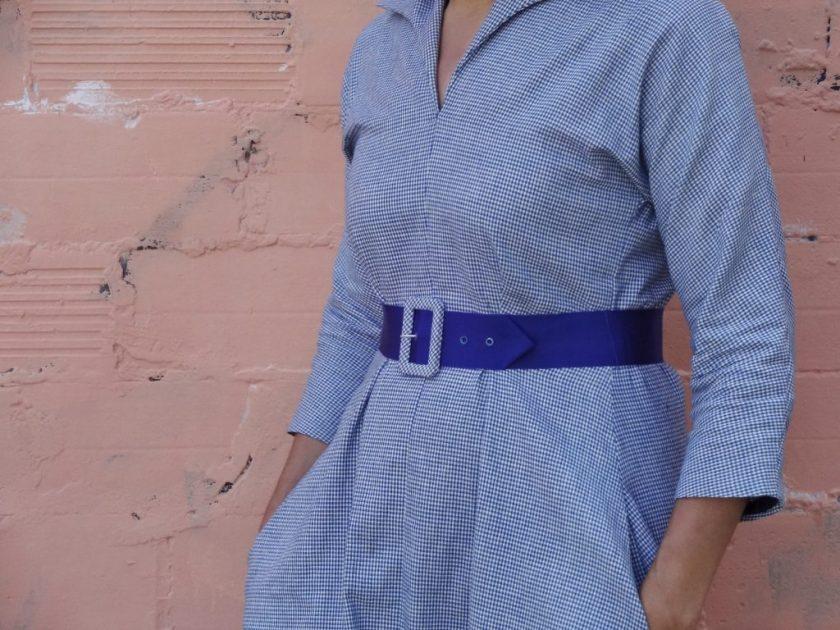 Winifred Dress - Bluegingerdoll Patterns - close-up view - csews.com