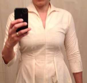 Bluegingerdoll Winifred Dress - small bust adjustment - indie sewing pattern